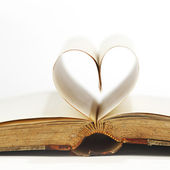 Heart inside a book — Стоковое фото
