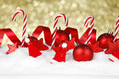 Christmas decoration and candies — Stok fotoğraf