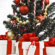 Decorated Christmas tree on white background — 图库照片 #36960741
