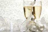 şampanya ve dekorasyon — Stok fotoğraf