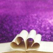 Heart inside a book — Stock Photo