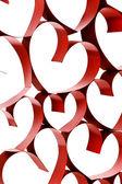 ленты украшение сердца — Стоковое фото