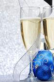 シャンパンと装飾 — ストック写真