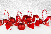 Christmas decoration and candies — Stock Photo