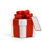 подарок с лентой и лук — Стоковое фото