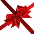 Red satin bow — Stock Photo #38563477