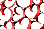 Ribbon hearts decoration — Stock Photo