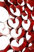 Ribbon hearts decoration — Foto de Stock