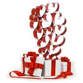 любовь подарки — Стоковое фото