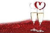 Décoration de Champagne et de la Saint-Valentin — Photo