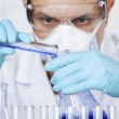 Researcher in lab — Stock Photo