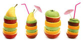 Stacks of fruit slices — Stock Photo