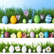 Easter eggs in grass — Stock Photo #43566175