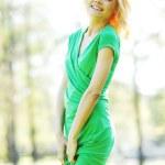 Smilng woman on park — Stock Photo #48859487