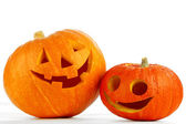 Funny Jack O Lanterns — Stock Photo