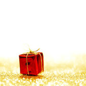 Box with holiday gift — Foto Stock
