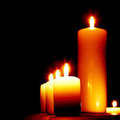 Set of lighting candles — Foto de Stock