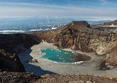 Vulcano Gorely (bruciata). Penisola di Kamchatka (Russia) — Foto Stock