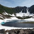 Mountains and Blue Lake on the Kamchatka — Stock Photo #18332321