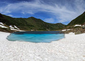 Blue Lake on the Kamchatka — Stock fotografie