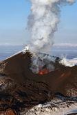 Beautiful volcanic eruption Tolbachik. The Kamchatka Peninsula — Stock Photo