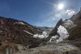 Crater of active volcano of Kamchatka — Stock Photo
