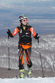 "Ski mountaineering Asian Championships, Russian Championship, Kamchatka Championship, International competitions ISMF series ""Kamchatka Race"" — Stock Photo"