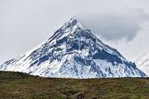 Mountain landscape of Kamchatka: view on Kamen Volcano — Stock Photo