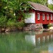 Historical Building of Sawmill and Dam. — Stock Photo