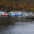 Pier for fishing boats (ships) Petty Harbor, Newfoundland, Canada — Stock Photo