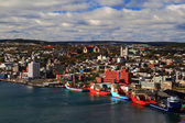 St. John's Newfoundland Harbour and Town. — Foto de Stock