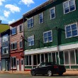 Typical St. John's Downtown Street and houses — Stock Photo