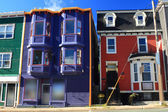 Typical St. John's Downtown houses. — Stock Photo