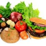 Grilled Mushrooms Burger, Ingredients and Seasonings. — Stock Photo #42147703