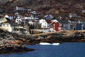 Vacation homes on the shore of Brigus Cove Newfoundland Canada — 图库照片