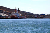 CCGS ships on pier in St. Johns Harbor ready for rescue operations  — Stock Photo