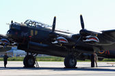 Avro Lancaster, painted with markings of Ropey, another Lanc from the 419 Squadron, for the SkyFest — Stock Photo