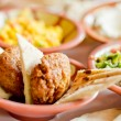 Felafel and Pita for breakfast — Stock Photo #12428346