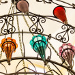 Beautiful multi-colored chandelier — Stock Photo
