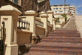 The long steep steps — Stock Photo