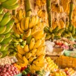 Bananbunch at local market — Stock Photo #18756885