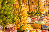 Montón de banano en el mercado local — Foto de Stock