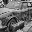 An old junk parked on the streets — Stock Photo