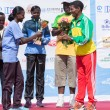 Winner of the 13th Edition Great Ethiopian Run women's race  — Stock fotografie