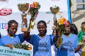 Winners of the 13th Edition Great Ethiopian Run women's race — Stock Photo