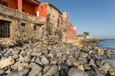 Historical buildings on Goree Island — Стоковое фото