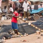 Mbour fish market — Stock Photo #49644625