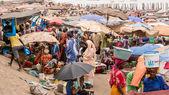 Mbour fish market — Stock Photo