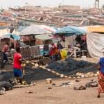 Mbour fish market — Stock Photo #50717785