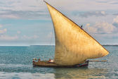Old boat on the Indian Ocean — Stock Photo
